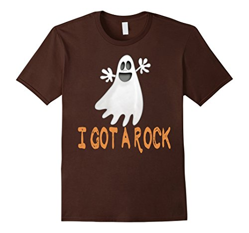Mens I Got a Rock Trick or Treat Shirt Cool Happy Halloween 2017 Small Brown