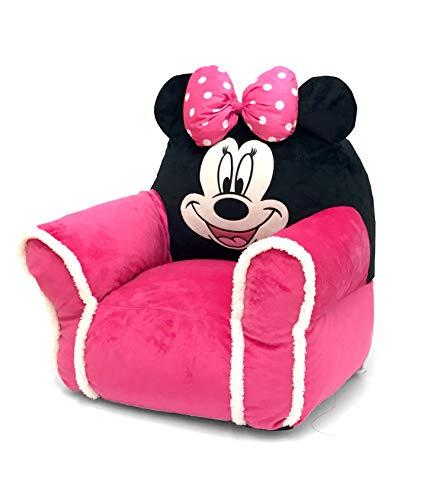 - Minnie Mouse Figural Bean Bag Chair with Sherpa Trim