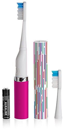 Violife Slim Sonic Electric Toothbrush for Home or Travel, Tickled Pink, Vss302, 0.15 Pound