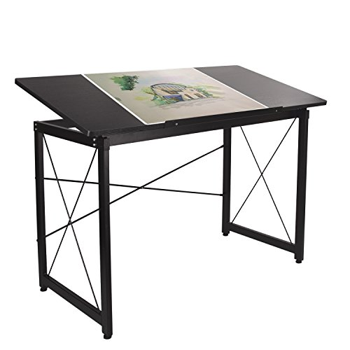 H&A 47''x 24'' Tiltable Drawing Desk Drafting Table Wood Surface Craft Station Versatile for Painting Writing Studying and Reading by H&A