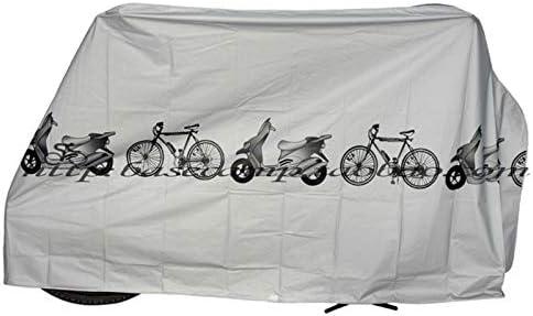 Aikesi 1Pc Bike Cover Universal Waterproof Anti Dust Rain UV Ourdoor Protection Bicycle Cover for Bike Motorbike Gray