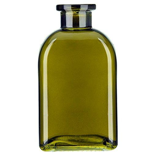 Glassnow C6054G22-N Roma Glass Bottle No Cork, 8.5oz 12 Pieces, Vintage Green