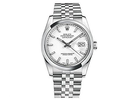 Rolex Datejust cadran blanc Index Jubilee Bracelet Montre pour homme ...