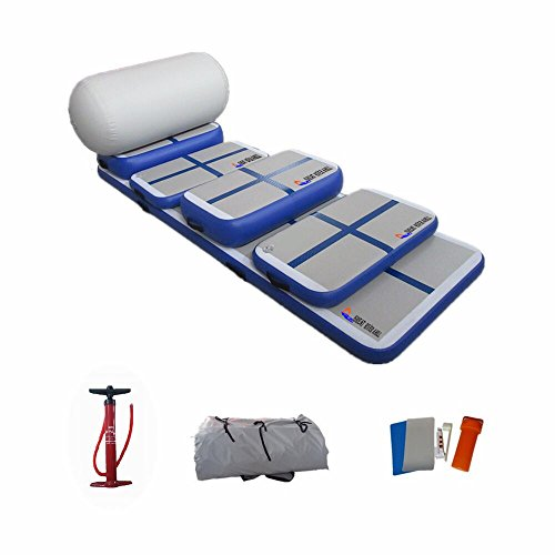Inflatable Fitness Mat, Home Training Mat Roller Mat 6 Sets Mat for Gymnastics with Free Pump by Great river hill (Image #6)
