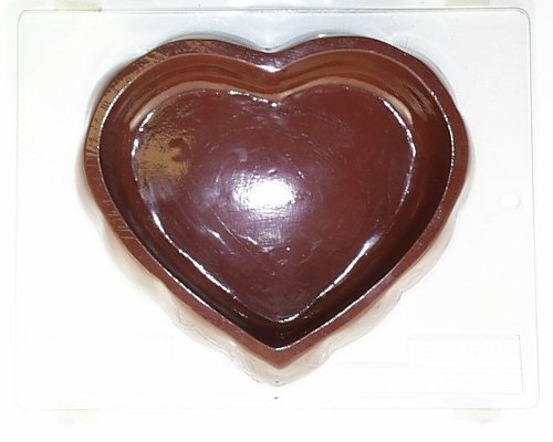 Large tufted heart pour box V110 Valentine's Day chocolate candy mold (Large Chocolate Heart Box Mold compare prices)