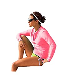Sbart Women's UV Sun Protection Long Sleeve Rash Guard Wetsuit Swimsuit Top