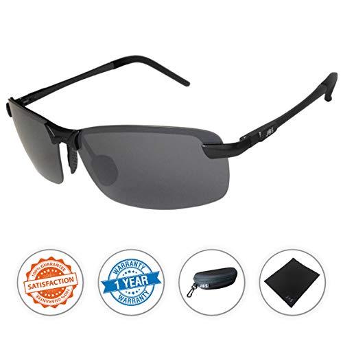 J+S Ultra Lightweight Men's Rimless Sports Sunglasses, Polar