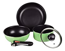 Pearl Metal Cookware Set of 5 IH OK Pale Green from Japan