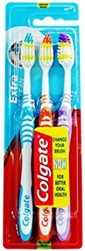 3 Pack Colgate Extra Clean Toothbrushes Medium (3 Toothbrushes (1 Pack))