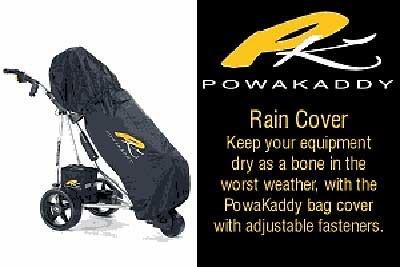 (Powakaddy 2012 Golf Bag Rain Cover Black Fits All Bags)