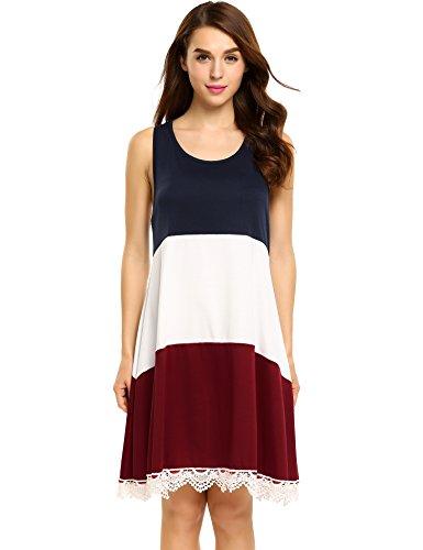 Colour Block Shift Dress - 9