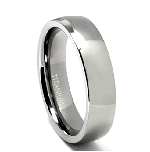 Titanium 6mm Comfort fit Dome Band, Size 10.5 by The Men's Jewelry Store