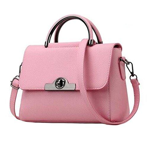 Moderne elegante Handtaschen-Schulter-Beutel-Geldbeutel-Crossbody Beutel PU-Leder, Rosa