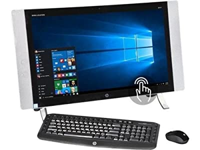 "2017 Flagship HP ENVY 23.8"" Full HD IPS Touchscreen All-in-One Desktop - Intel Quad-Core i5-6400T 2.2GHz, 16GB DDR3, 1TB HDD, Bluetooth, WLAN, Webcam, HDMI, USB 3.0, Windows 10 (Certified Refurbished)"