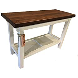 "Entryway/Kitchen/Bath Bench - 12"" Depth - In Your Choice Of Color And Size 30"" - 46"""