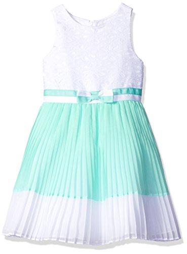 Youngland Big Girls' Lace Bodice Chiffon Pleated Dress wi...