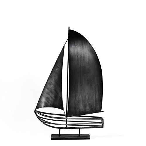 Danya B. Brushed Metal Sailboat (Boat Metal Sculpture)