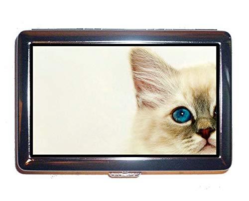 - Wallet or Cigarette Case,Kitten Animal cat Cash Holder Case Box 0232