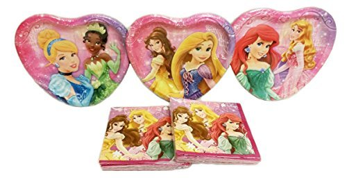 (Disney Princess Party Plates (24 Plates) & Beverage Napkins (32 Napkins) Party Pack. Bundle of)