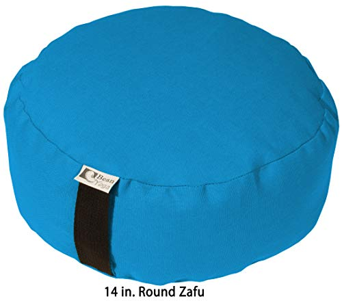 Bean Products Zafu Meditation Cushion - Yoga - Multiple Colors, Sizes and Fabrics - Organic Buckwheat Fill - Made in USA