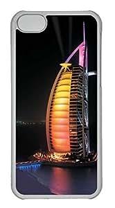 LJF phone case Personalized Custom Night for iPhone 5C PC Transparent Case