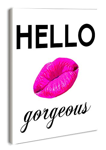 The Stupell Home Decor Collection lulusimonSTUDIO Hello gorgeous Rectangle Wall Plaque