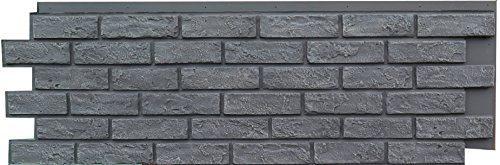NextStone Faux Polyurethane Brick Panel - Antique Gray - Box of 4 Panels