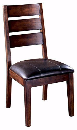 Ashley Furniture Signature Design - Larchmont Dining Room Chair - Set of 2 - Burnished Dark Brown