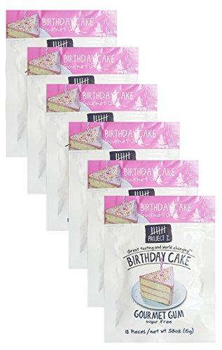 Birthday Cake Gourmet Gum - Pack of 6 - Sugar - Project Cake 7 Birthday
