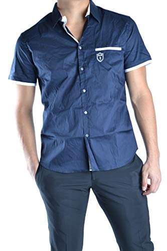 Cesare Paciotti 4Us Men's Mcbi12277 Blue Cotton Shirt