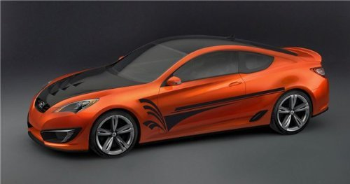 Lines Car Vinyl Side Graphics Coupe Street Racing ()