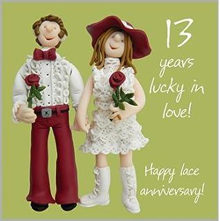 13th Wedding Anniversary Card