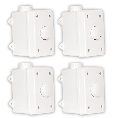 Theater Solutions OVCDW Outdoor Volume Controls White Weatherproof Dial 4 Control Set by Theater Solutions
