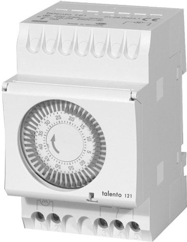 Intermatic Talento 121-120 1-Hour 120V Electromechanical Cycle Timer Switch, DIN Rail - Timer Din