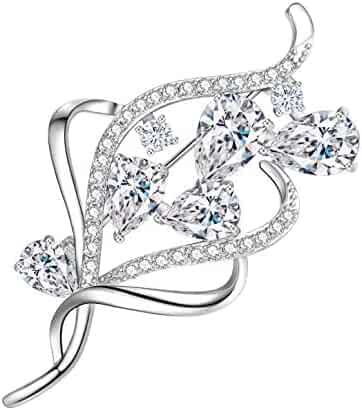 b056528a1 Yonhi Brooch Pins for Women Vintage Flower Brooch Pins for Women Wedding  Party Jewelry Brooch Pin
