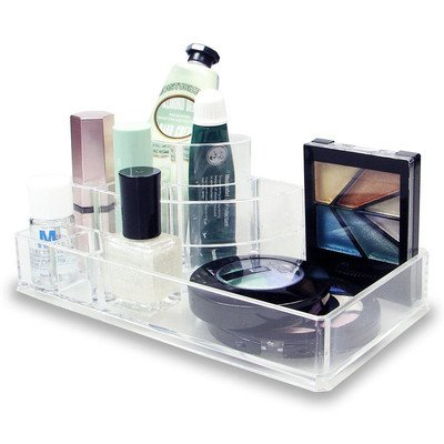 Sleek 3-Step 8-compartment Cosmetic Organizer