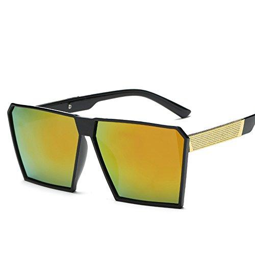 sol Vintage mujer for sol y Gafas polarizadas UV400 gafas nbsp;reflectantes de espejo Unisex de diseño Matte Mode alta gafas nerd Retro sol calidad Rubber Gafas de efecto renden retro hombre 2 para Espejo qp064