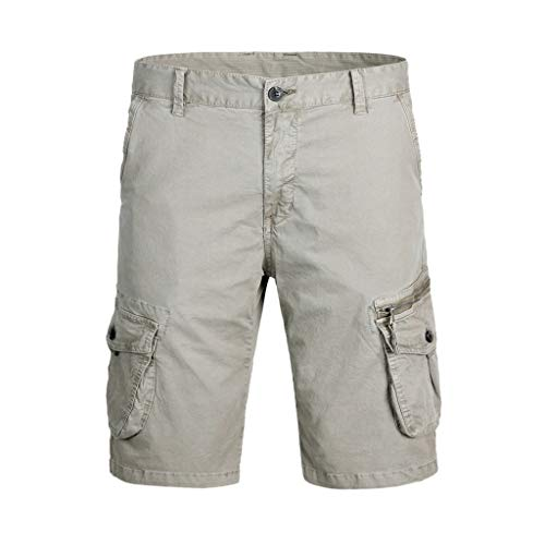 Men's Outdoor Casual Expandable Waist Lightweight Water Resistant Quishorts Dry Cargo Fishing Hiking Shorts Khaki