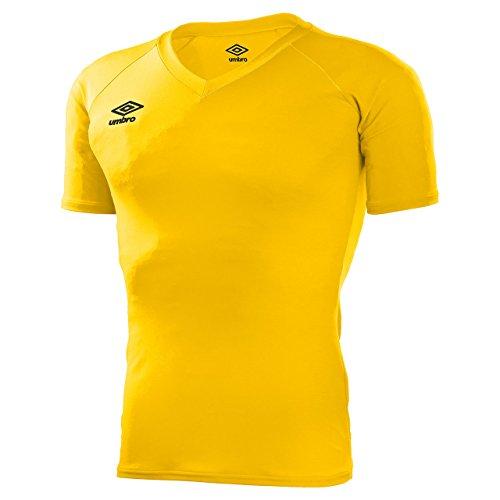 価値すなわち飽和する17SS アンブロ(UMBRO) S S パワーインナーVネックシャツ UAS9701 YEL サッカー ゲームシャツ?パンツ メンズ