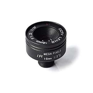 Aluminum Alloy 16mm F1.6 CCTV Camera Lens (Black)