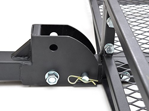 TMS 60inch x 20inch Hitch Mount Folding Cargo Carrier Basket w/ Weather-Resistant Luggage Bag by TMS (Image #5)