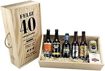"""Caja personalizada regalo """"Feliz Cumpleaños"""" degustación cerveza ..."""