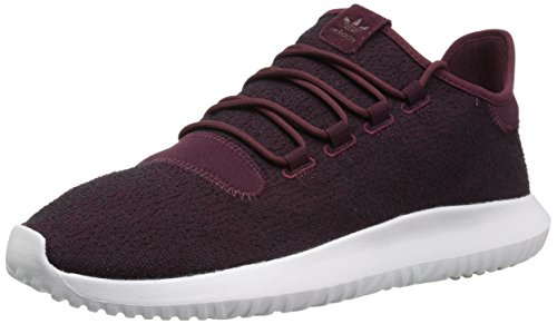 Adidas Originals Men's Tubular Shadow Sneaker, Maroon/Vapour Grey/White, 9 M US