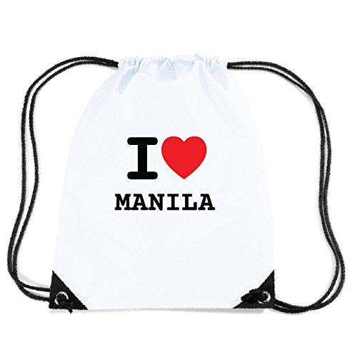JOllify MANILA Turnbeutel Tasche GYM4880 Design: I love - Ich liebe PPhDn