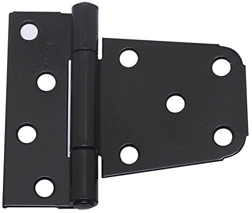 National Hardware N220-129 V287 Extra Heavy Gate Hinges in Black, 2 pack (Heavy Extra Hinge)