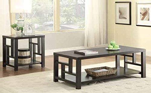 Coaster Home Furnishings Coffee Table with Window Pane Design Cappuccino