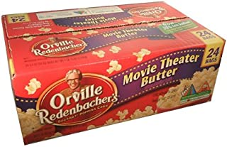 product image for Orville Redenbacher Gourmet Popping Corn Movie Theater Butter Popcorn 24-93.3g Bag Box, 4.9 lbs