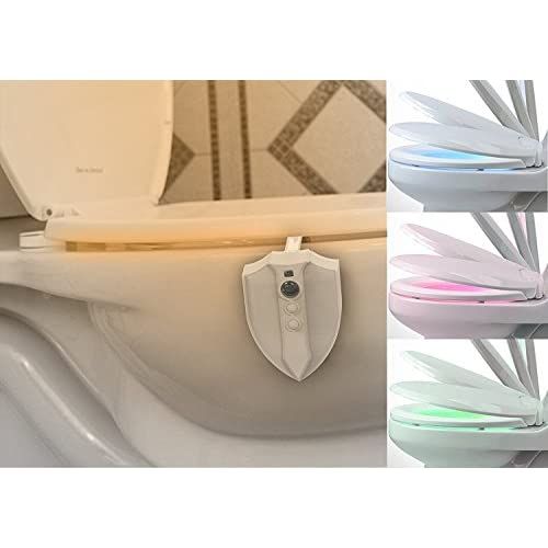 30%OFF Toilet Night Light,Bigaint Motion Activated Toilet Lights Inside Toilet Nightlight 8 Colors with UV STERILIZATION FEATURES(ABS Material)