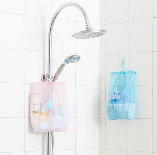 JD Million shop 1Pcs Useful Kitchen Bathroom Hanging Storage Clothespin Mesh Bag Organizer With Hook