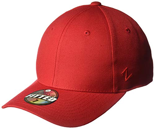 (Zephyr Mens DH Fitted Hat, Red, 7)